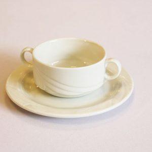 soepkop & schotel luxe wit