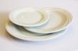 Bord gebak 16 cm arcadia wit