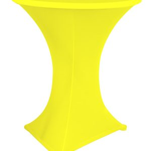 Statafelrok geel stretch met cover
