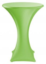 Statafelrok groen stretch met cover