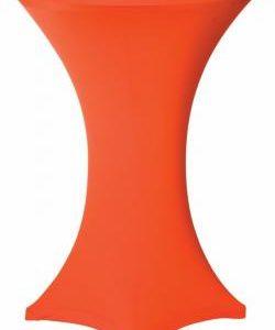 Statafelrok oranje stretch met cover
