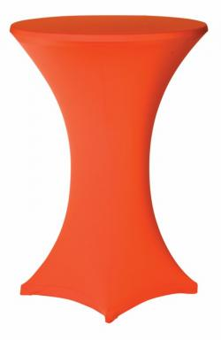 Statafelrok oranje stretch met cover