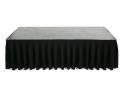 Podiumrok zwart 400 x 60 cm