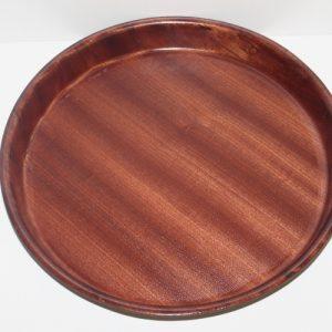 Dienblad rond anti-slip hout